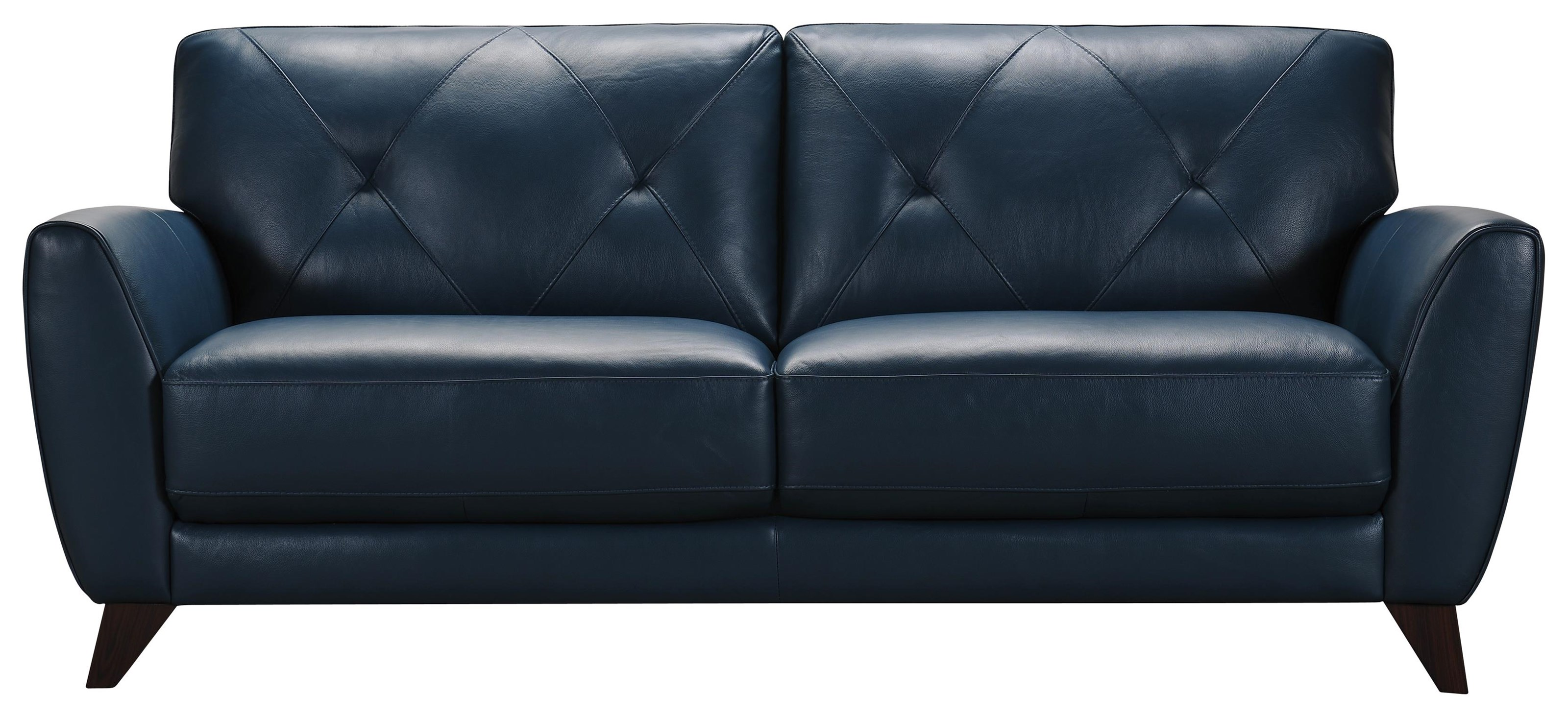 Blue Leather Sofa 3159 Pea Blue Leather Sofa By Violino At