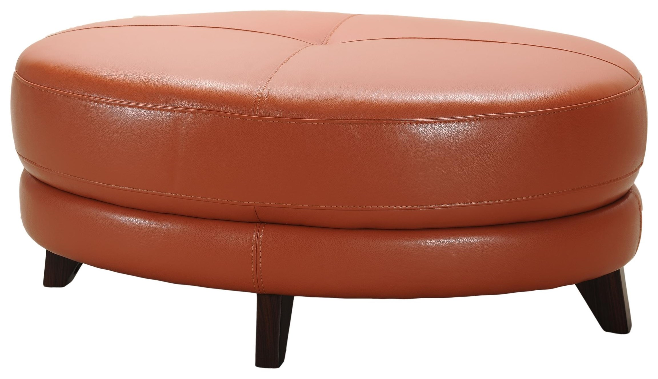 3159 Terracotta Leather Cocktail Ottoman by Violino at Dunk & Bright Furniture