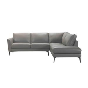 100% Leather 2PC Sectional