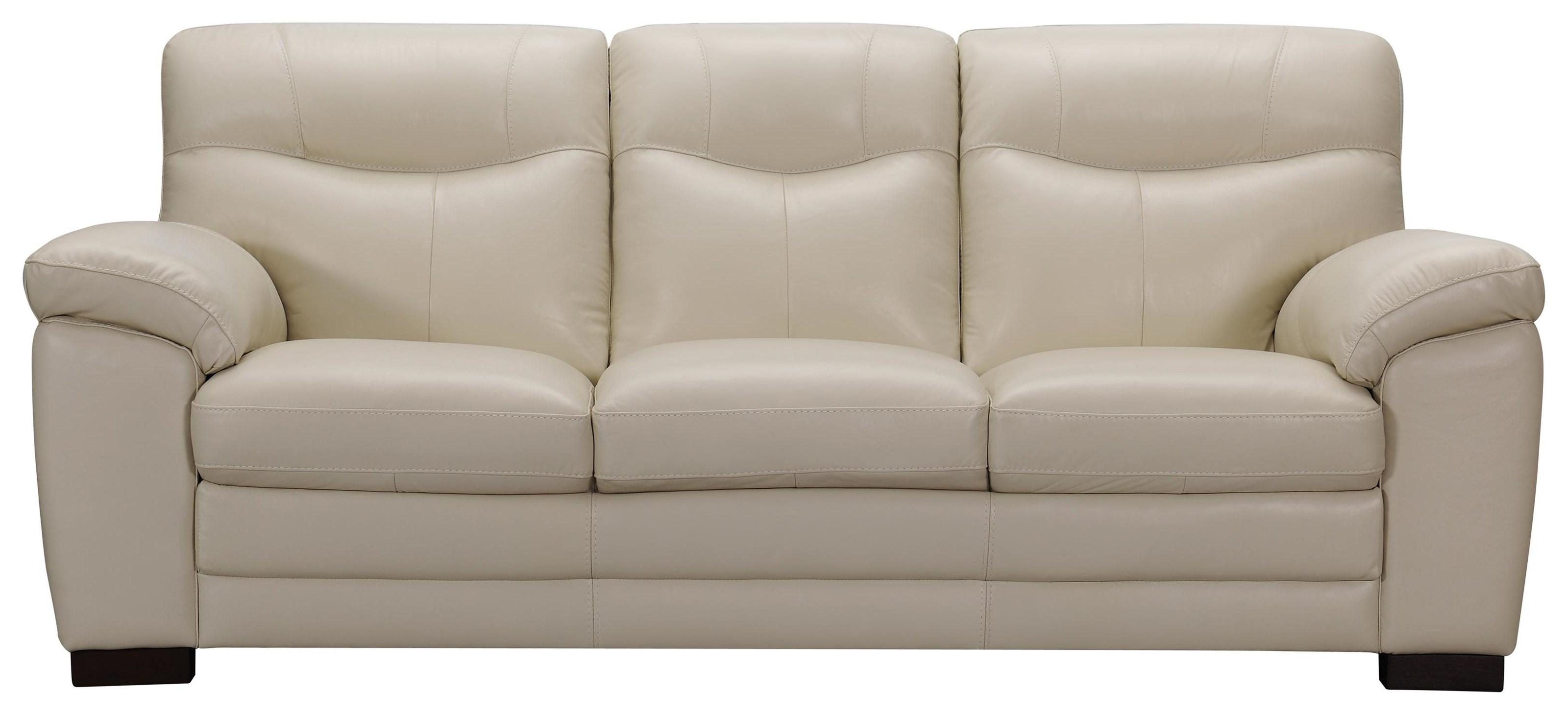 Violino 31852 Ivory Leather Sofa - Item Number: 31852 M3083IVORY