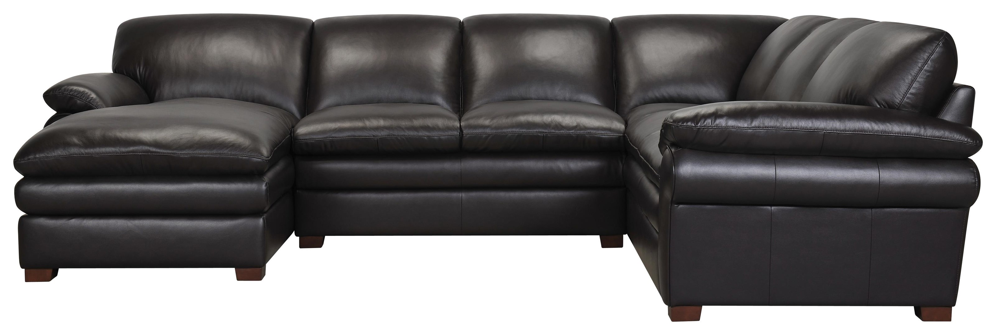 3 Piece Leather Match Sectional