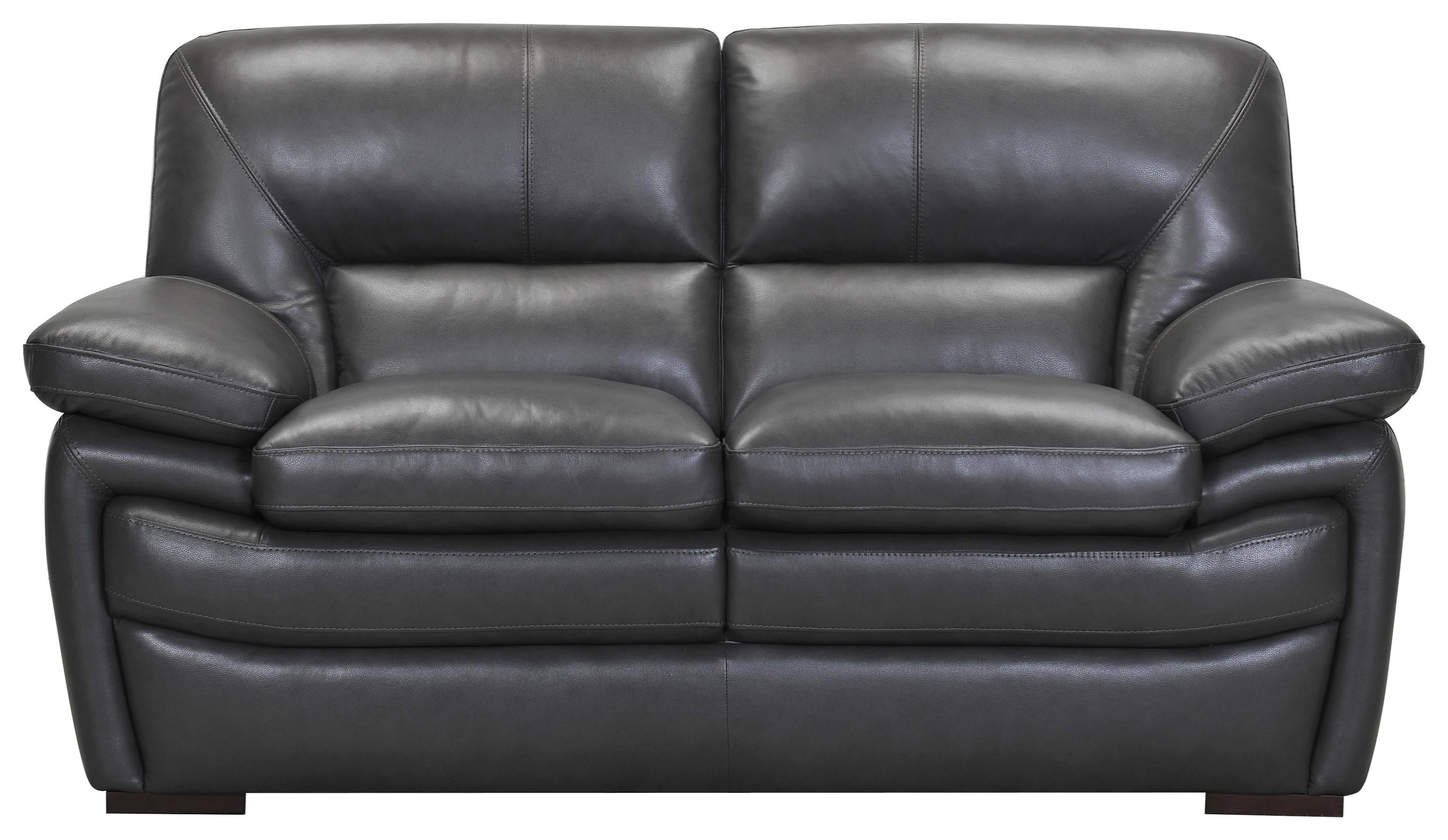 Leather Match Loveseat