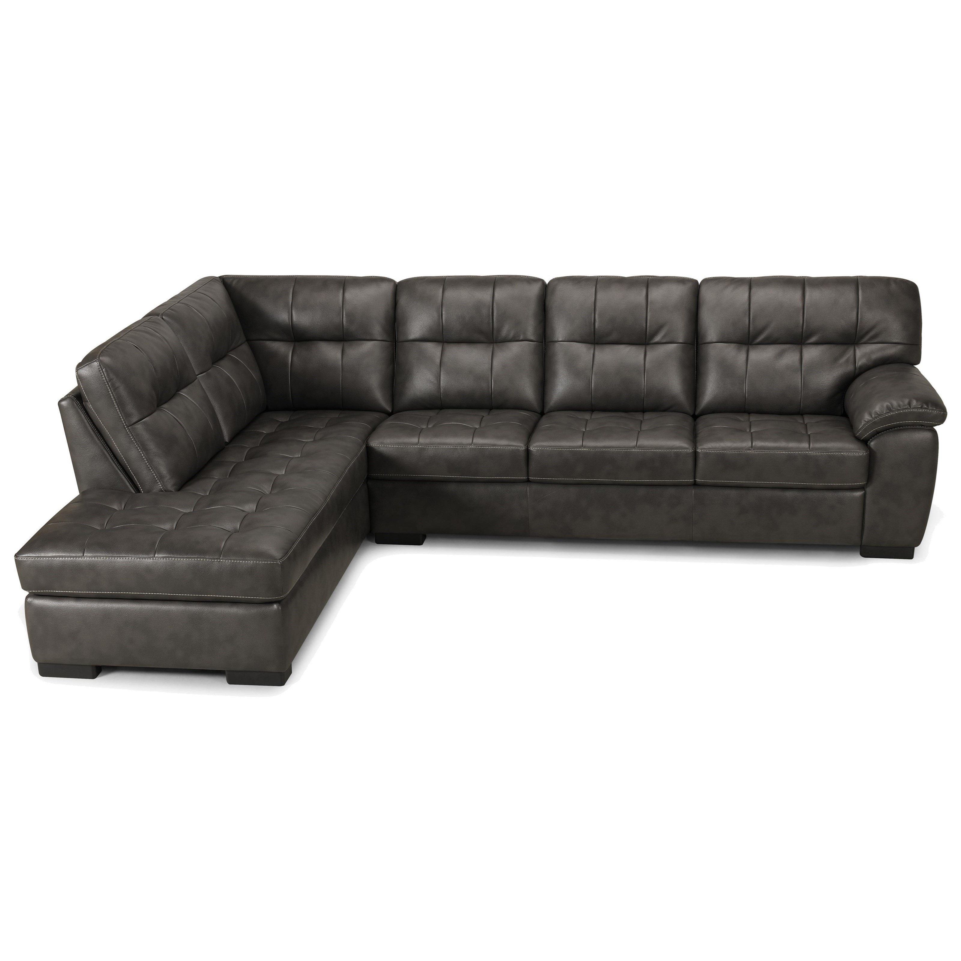 Becker 1950 3638 2 Piece Sectional - Item Number: 3638-3PR+3CSL-PEWTER