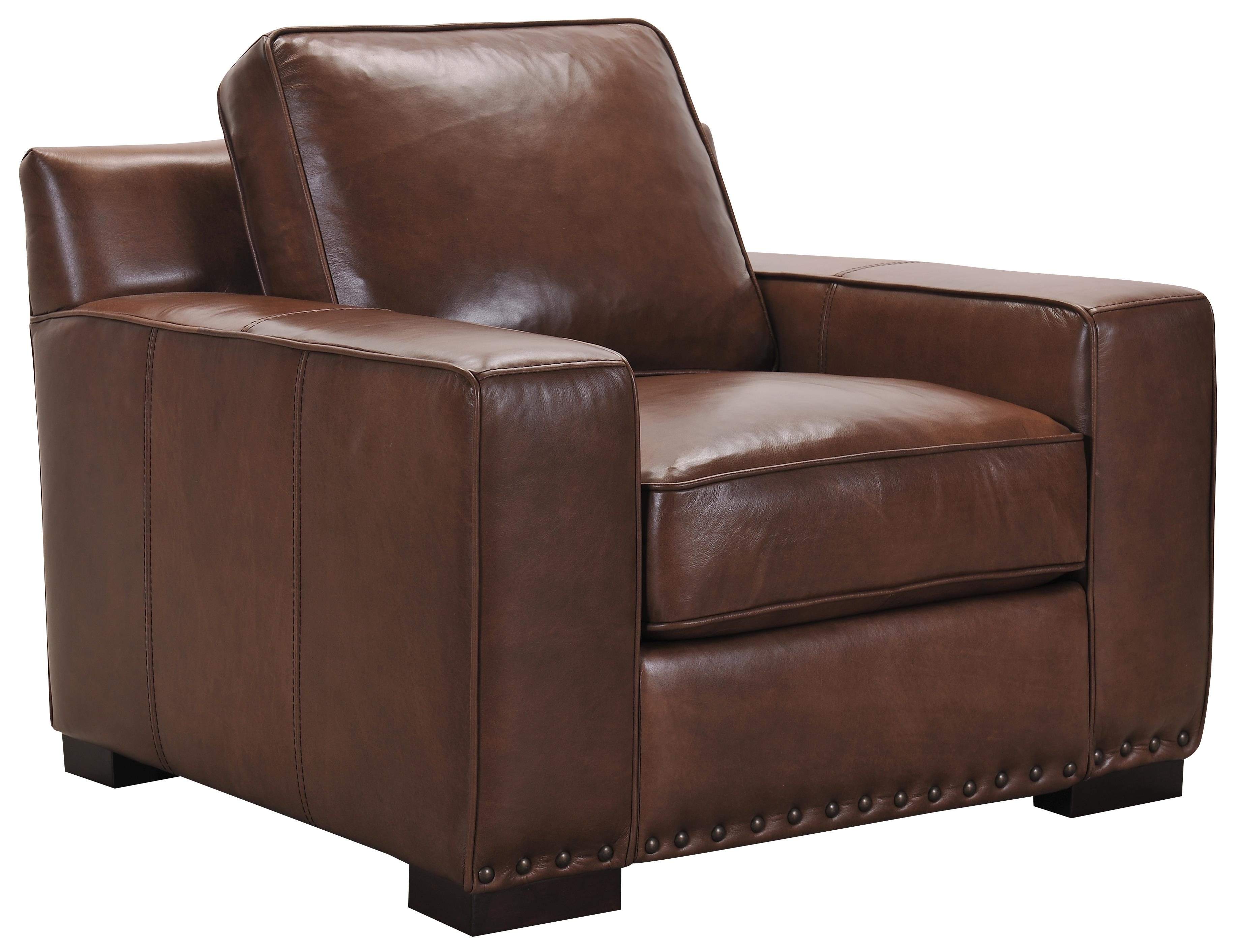 Belfort Select Patrick Brown Leather Chair - Item Number: 3584-1P