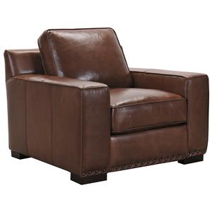Belfort Select Patrick Brown Leather Chair