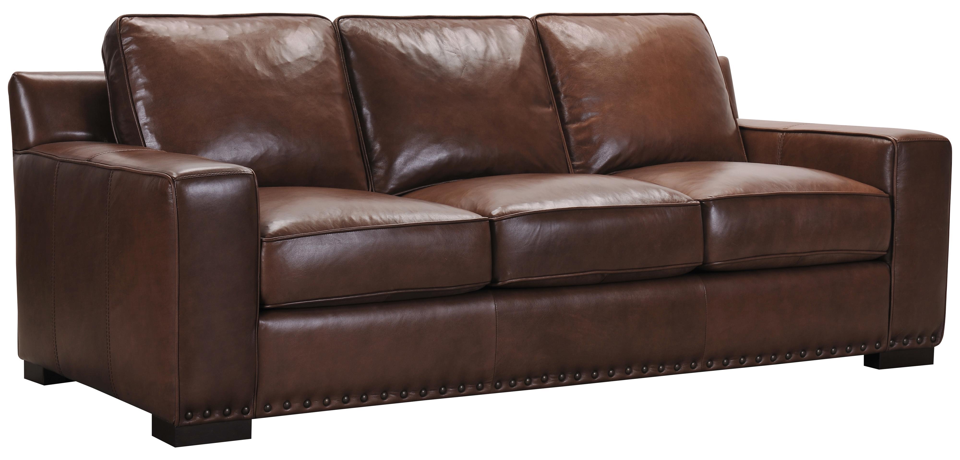 Belfort Select Patrick Brown Leather Sofa - Item Number: 3584-3P