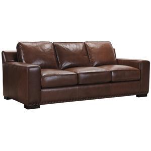 Belfort Select Patrick Brown Leather Sofa