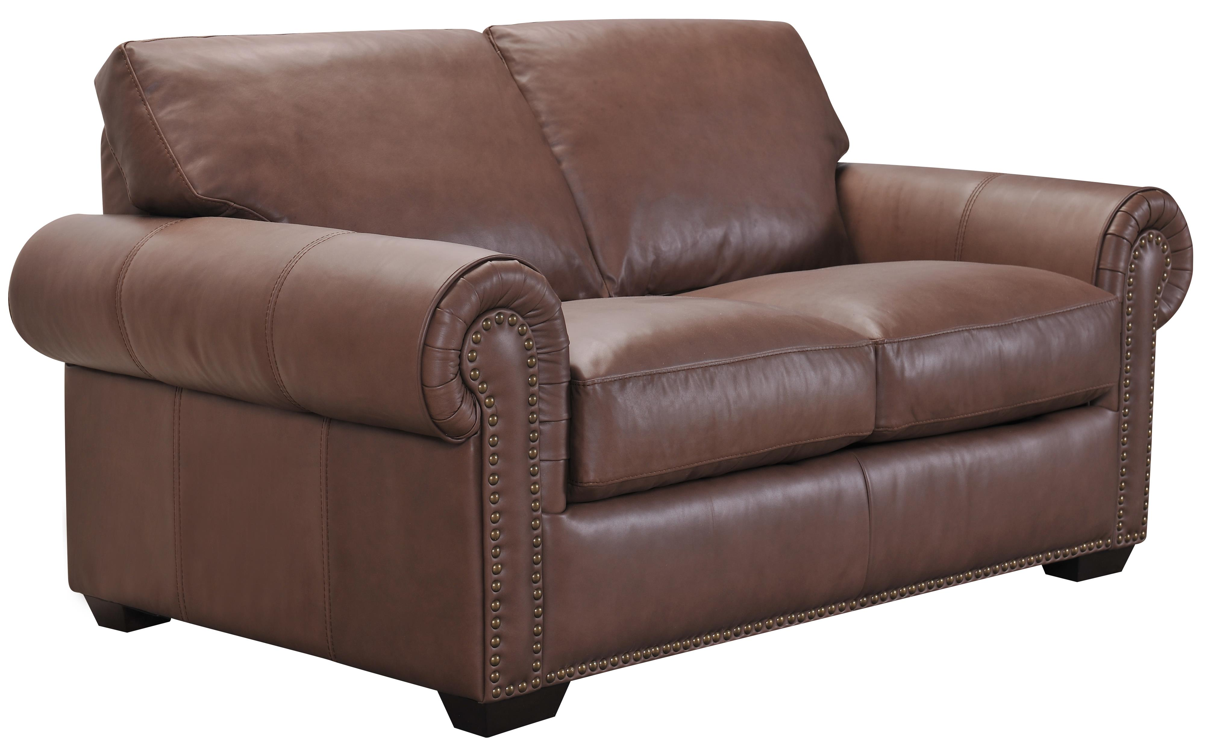 Belfort Select Taylor Brown Leather Love Seat - Item Number: 3500XF-2P