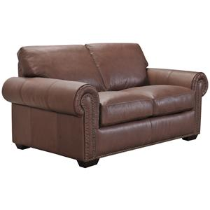 Belfort Select Taylor Brown Leather Love Seat