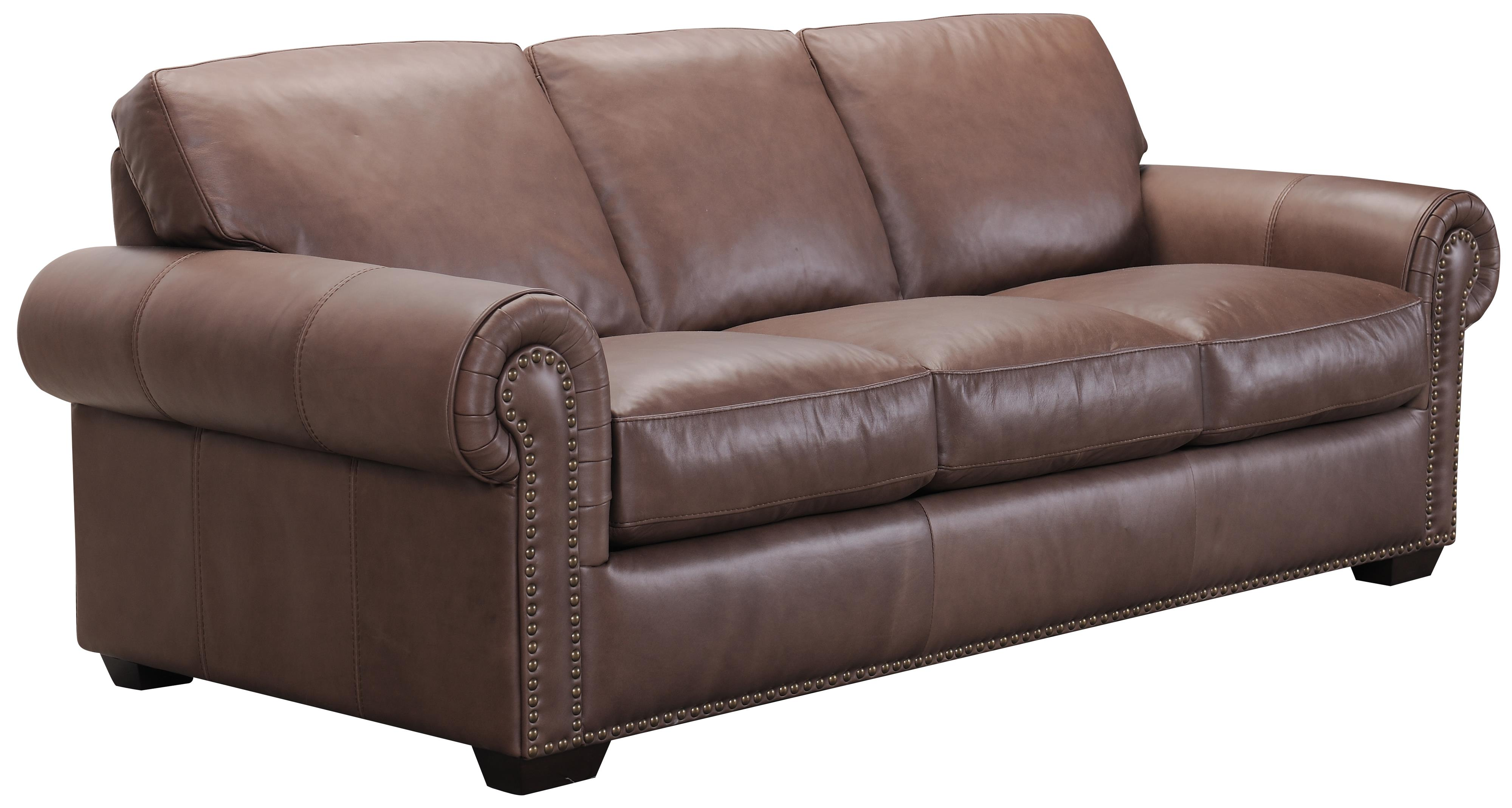 Belfort Select Taylor Brown Leather Sofa - Item Number: 3500XF-3P