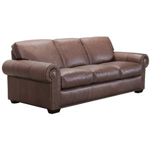 Belfort Select Taylor Brown Leather Sofa