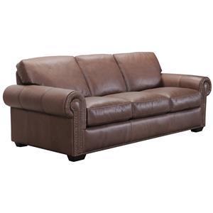 Belfort Select Taylor Brown Leather Sofa