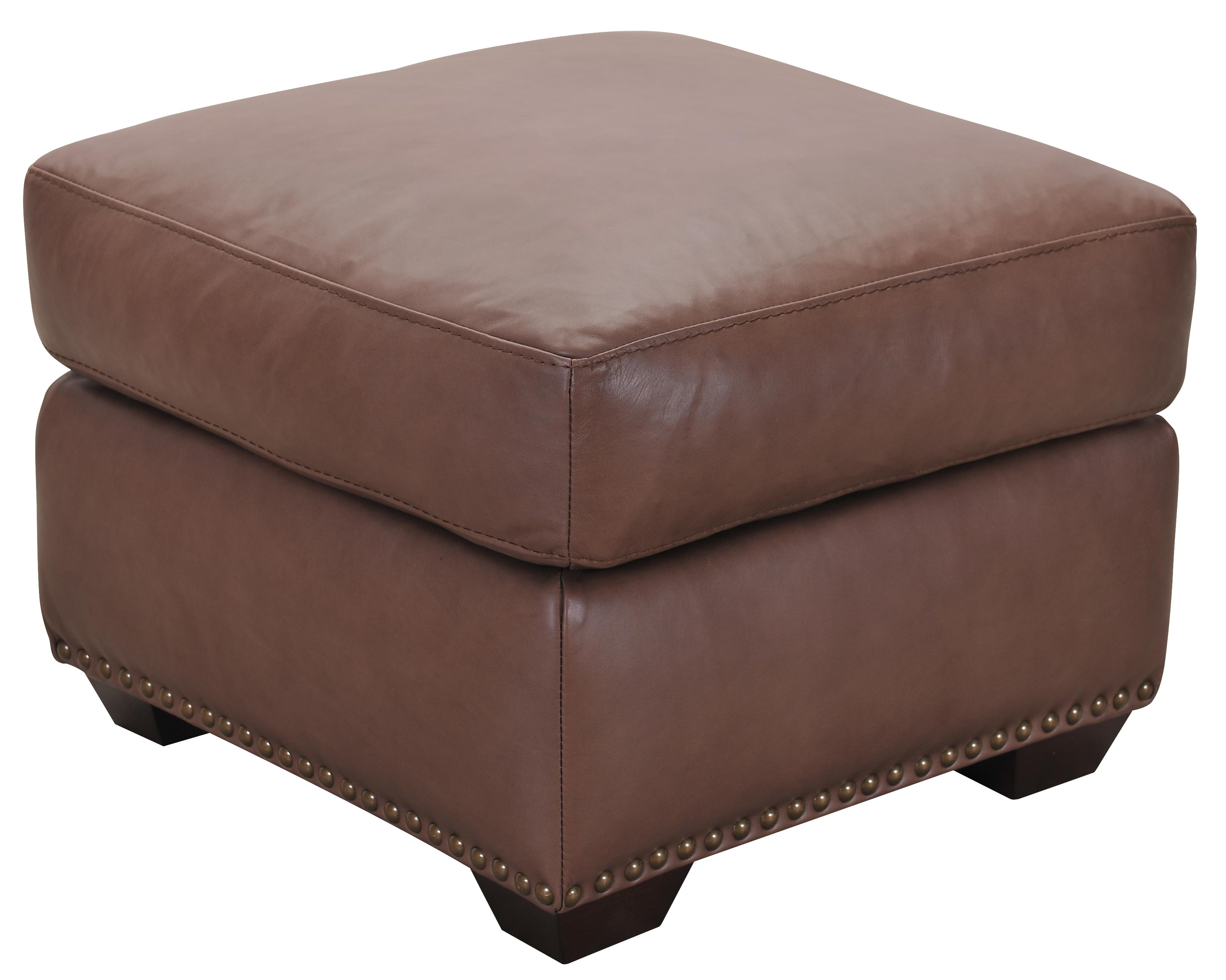 Belfort Select Taylor Brown Leather Ottoman - Item Number: ST3500