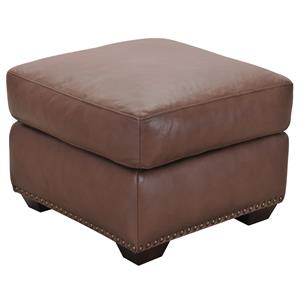 Belfort Select Taylor Brown Leather Ottoman