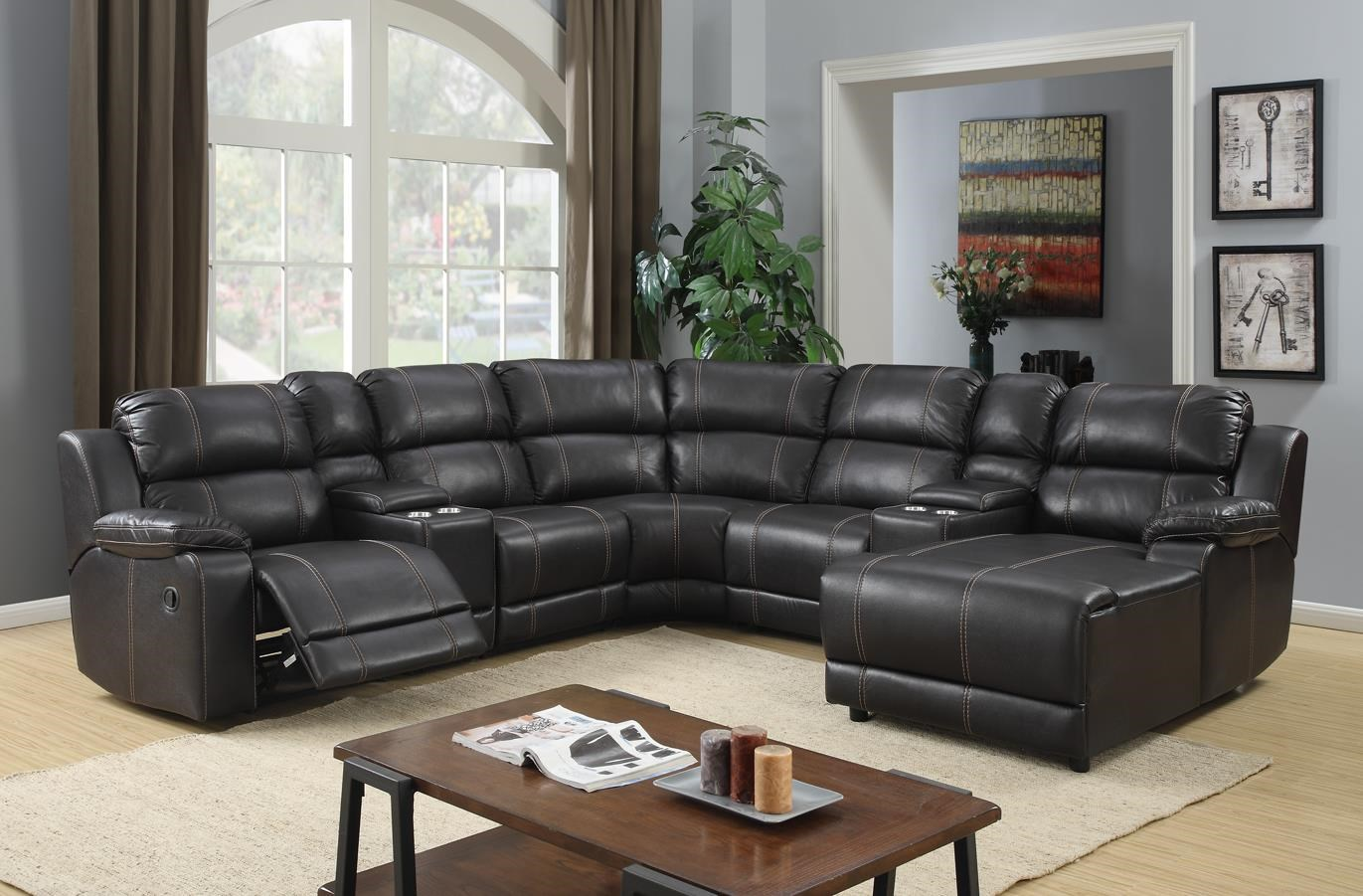 Vogue Home Furnishings PX2212 7 Piece Sectional   Item Number: PX2212