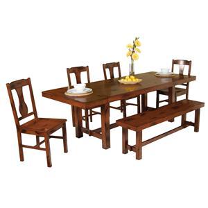 Walker Edison Dining 6-Piece Dining Set