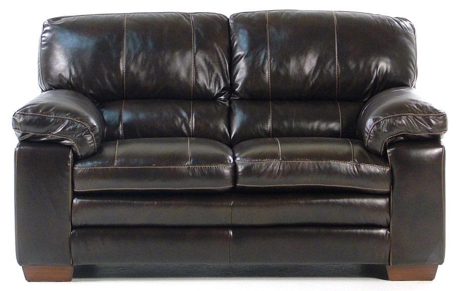 Madison Manor Thompson Leather Loveseat - Item Number: 2433-2