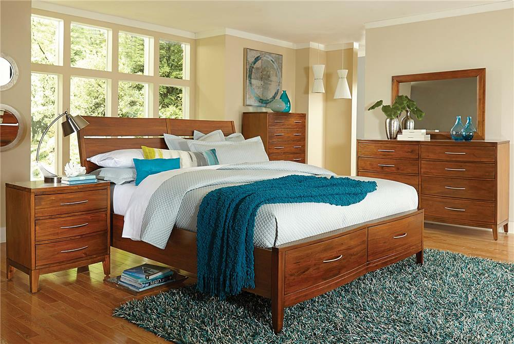Madison Manor Bostonian Queen Storage Bed - Item Number: 21-50H+50FS+50R