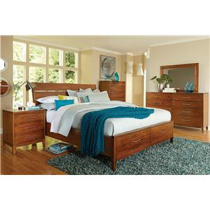 Madison Manor Bostonian 4-Piece Queen Storage Bedroom Set