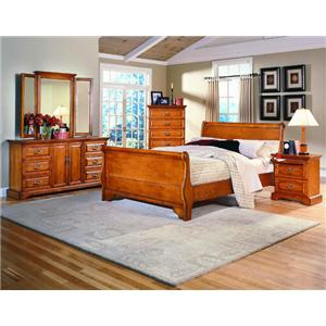 Madison Manor Oak Classics 4 Piece Queen Bedroom Set