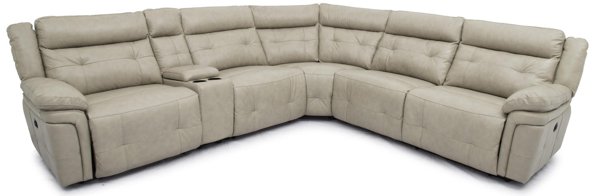 Top Grain Leather Match Reclining Sectional