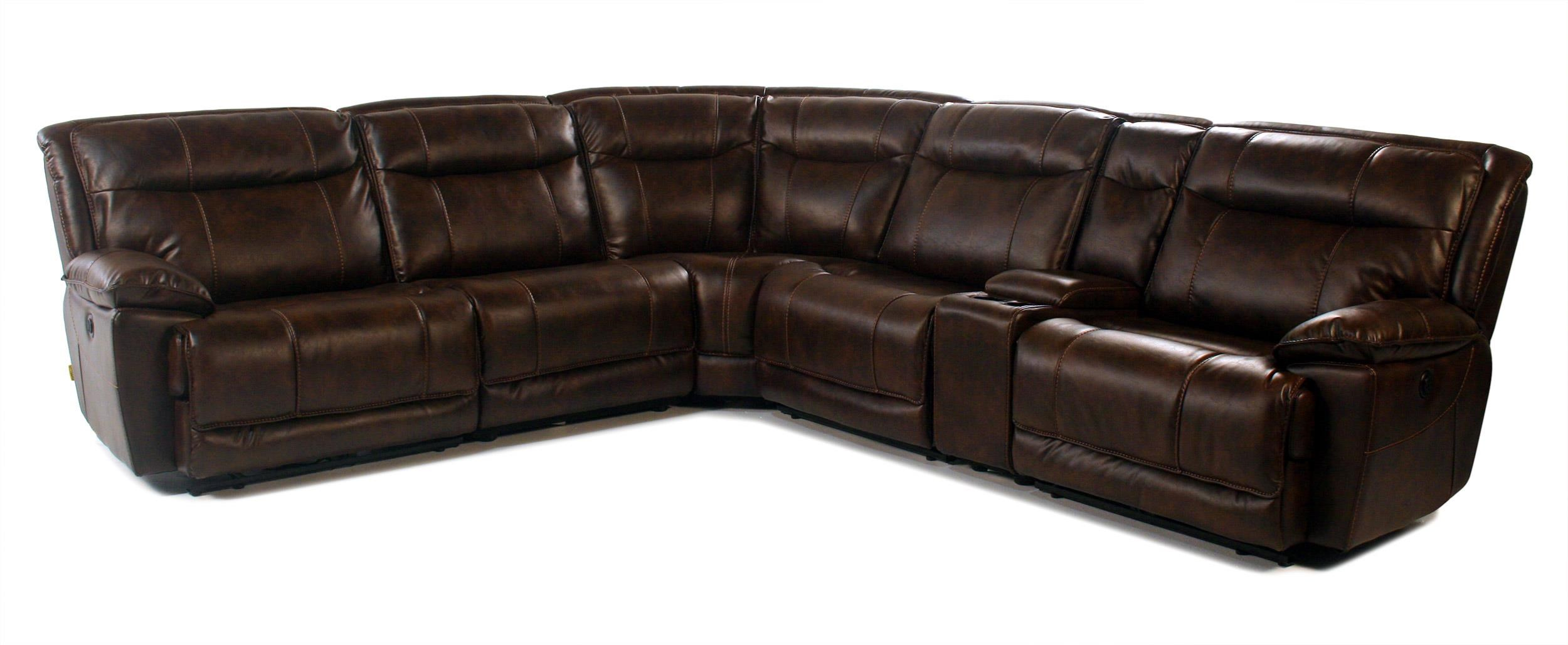 Madison Manor Mustang 6PC Power Reclining Sectional - Item Number: 9918-6PC-PRC
