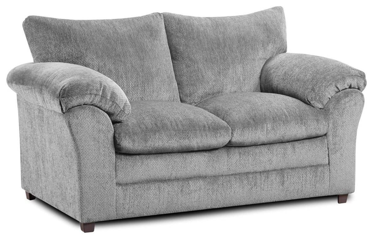 2153 Kennedy Grey Loveseat by Washington Brothers Furniture at Furniture Fair - North Carolina