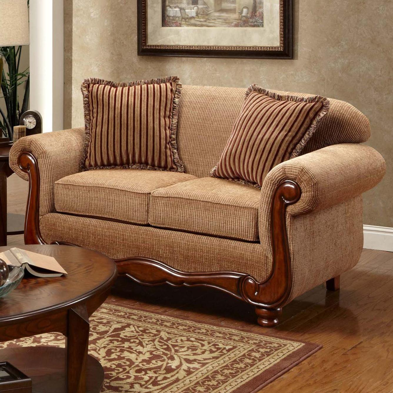 Washington Furniture 1000 Traditional Love Seat With Rolled Arms Del Sol Furniture Love Seat