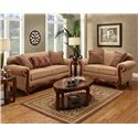 Washington Furniture 1000 Traditional Love Seat with Rolled Arms - Shown with Sofa
