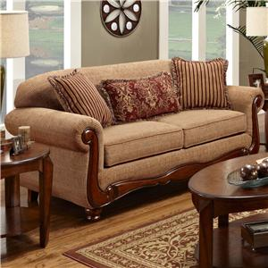 Washington Furniture 1000 Traditional Sofa with Rolled Arms