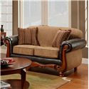 Washington Furniture 1030 Radar Mocha Loveseat - Item Number: 1030 Loveseat