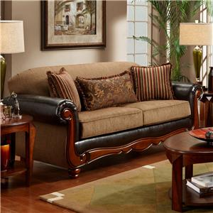 Washington Furniture 1030 Radar Mocha Sofa