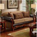 Washington Furniture 1030 Radar Mocha Sofa - Item Number: 1030 Sofa