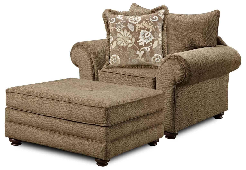 Washington Furniture 1120 Casual Chair With Ottoman Del Sol Furniture Chair Ottoman