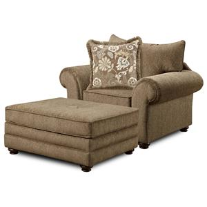 Washington Furniture 1120 Chair and Ottoman