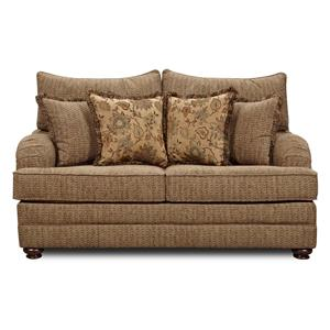 Washington Furniture 1130 Traditional Love Seat with Throw Pillows