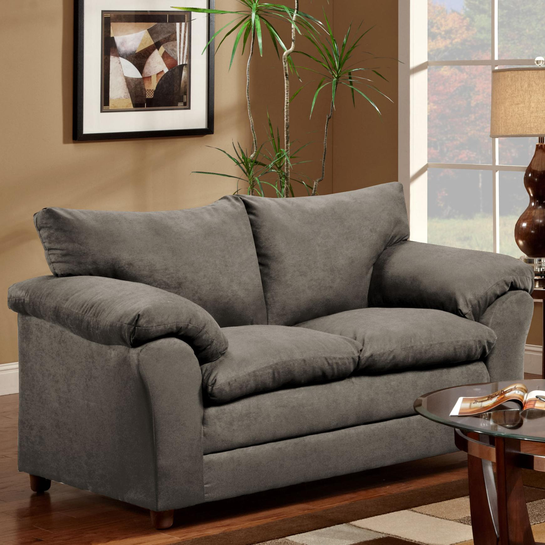 Washington Furniture 1150 Loveseat - Item Number: 1150-LS Graphite