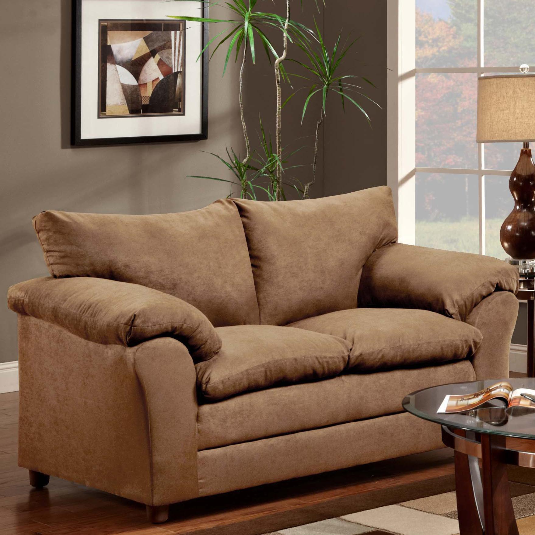 Washington Furniture 1150 Loveseat - Item Number: 1150-LS Taupe