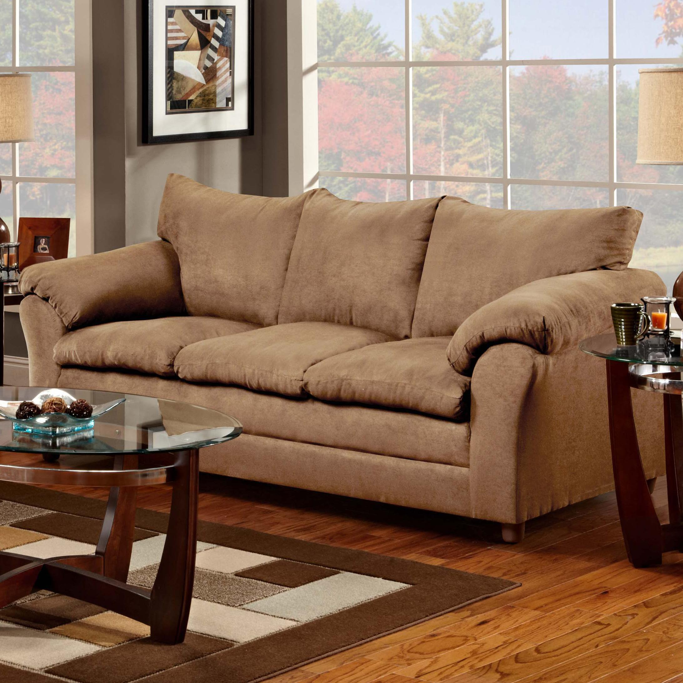 Washington Furniture 1150 Sofa - Item Number: 1150-S Taupe
