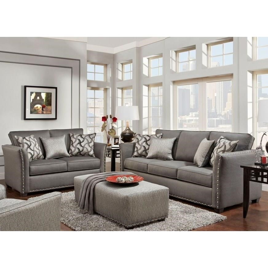 Washington Furniture 1380 Washington Sofa & Love Seat - Item Number: 1382-810+1383-810