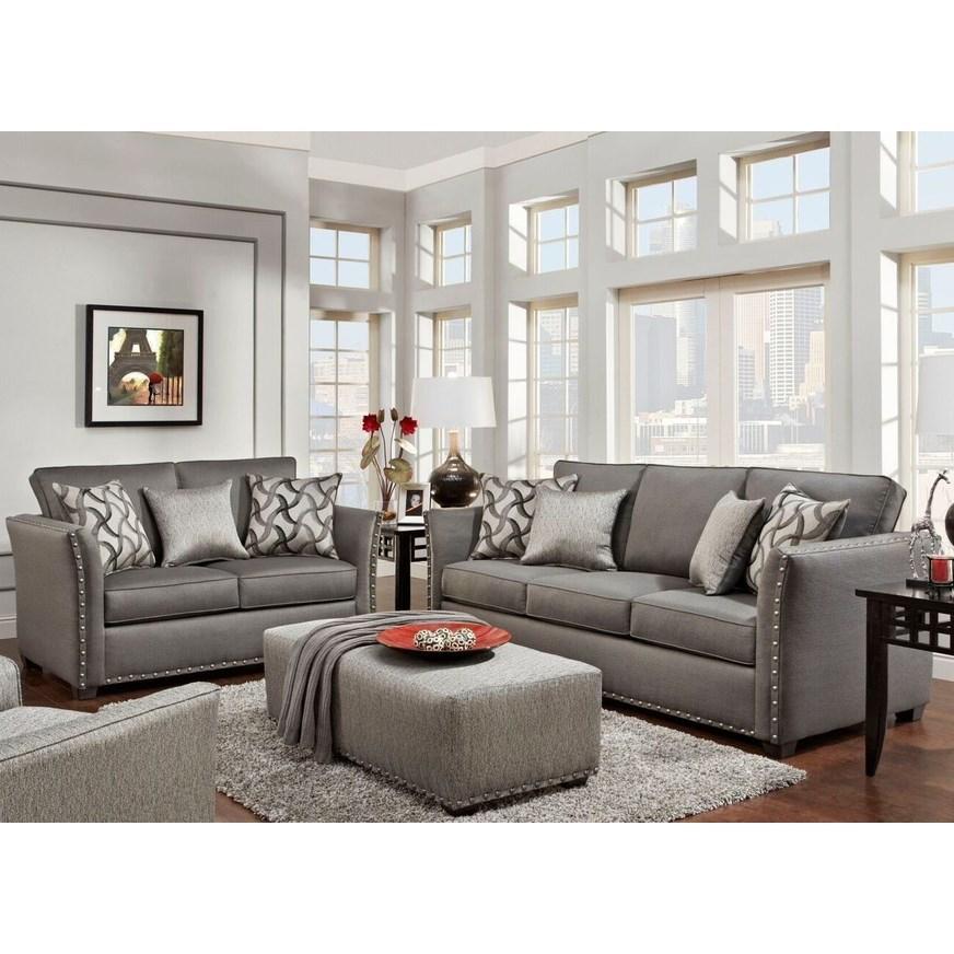 Washington Furniture 1380 Washington 1383 810 Contemporary Sofa With Flare Tapered Arms Del