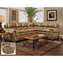 Washington Furniture 1450 Washington Traditional 6 Seat Sectional with Nailhead Trim