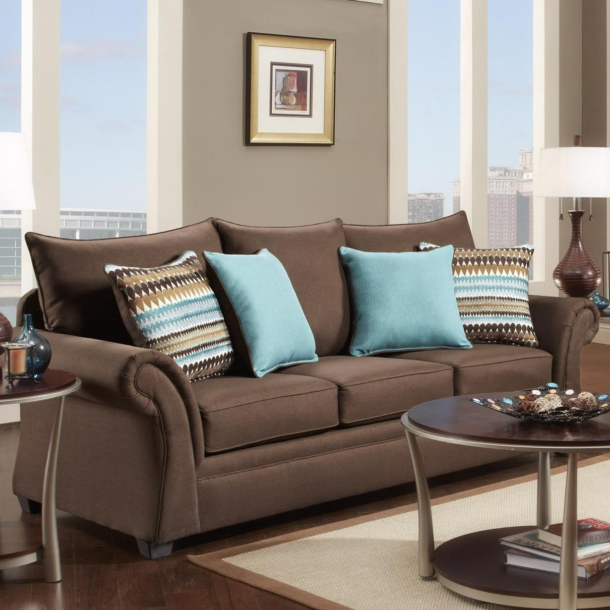 Washington Furniture 1560 Sofa - Item Number: 1562-750 Jitterbug Cocoa