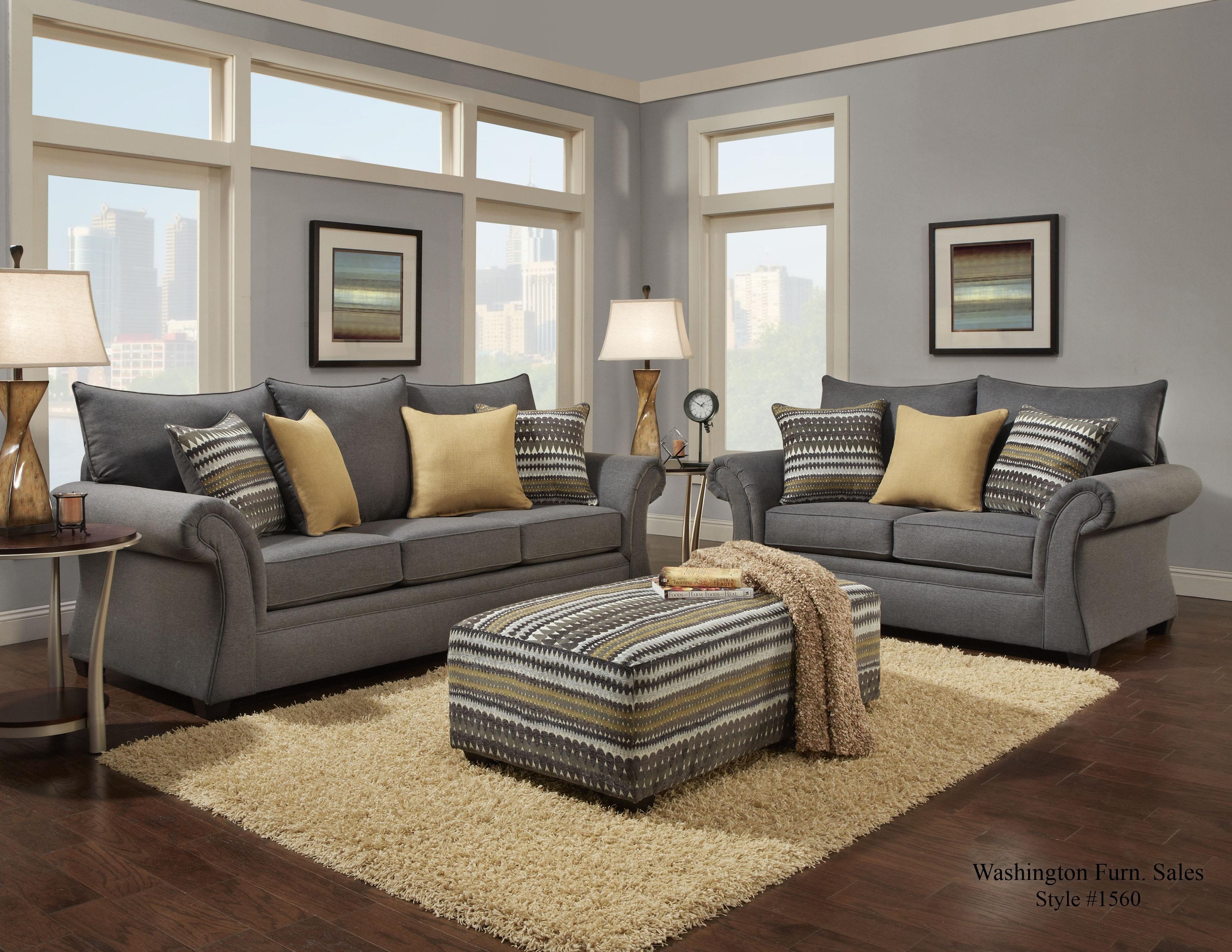 Washington Furniture 1560 1563 751 Transitional Sofa with  : products2Fwashingtonfurniture2Fcolor2F156020washington1562 75020jitterbug20gray b2 from www.elpasohouseholdfurniture.com size 3300 x 2550 jpeg 932kB