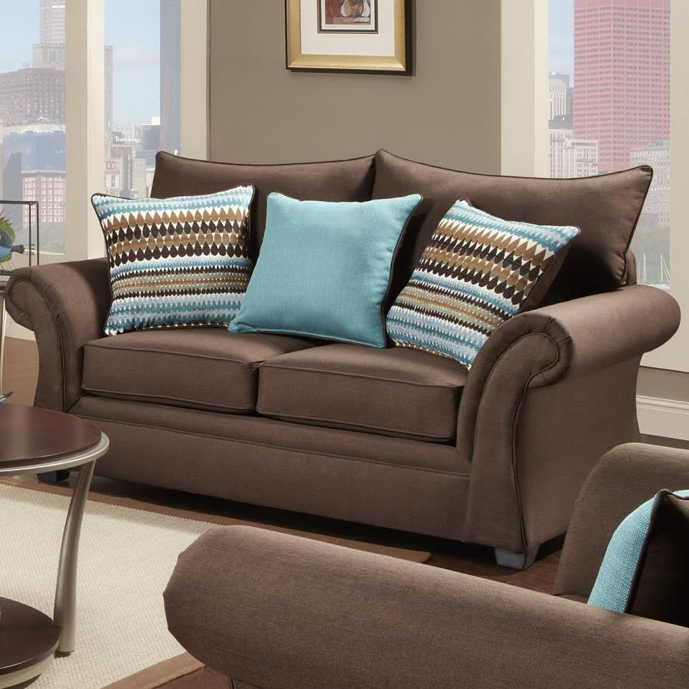 Washington Furniture Jitterbug Loveseat - Item Number: 1562-750 Loveseat Jitterbug Cocoa