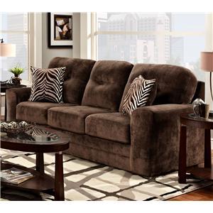 Washington Furniture 1600 Casual Tufted Back Stationary Sofa