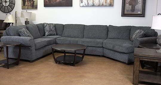 Washington Furniture Jesse Pepper 3 Piece Sectional - Item Number: GRP-1613-3PCSECTIONAL