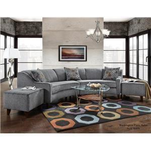 Washington Furniture Jesse Pepper Curved