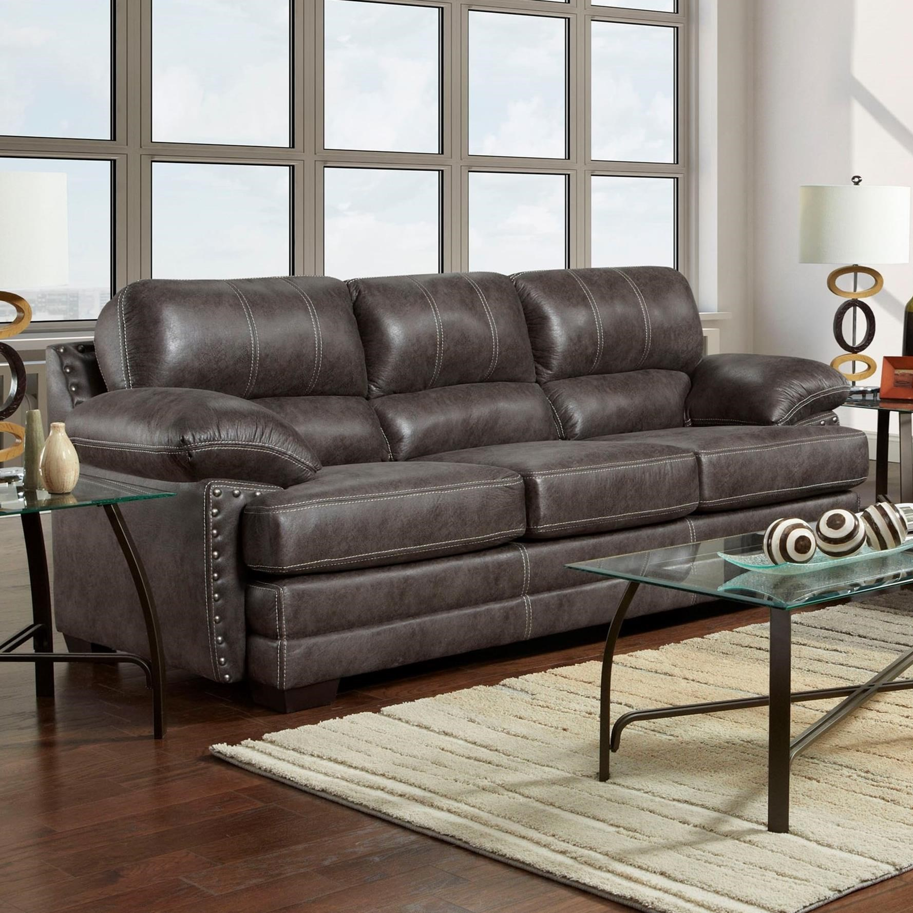 Washington Furniture 1650 Sofa - Item Number: 1653-693-Nevada Ash