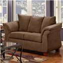 Washington Furniture 2000 Loveseat - Item Number: 2000-LS Chocolate